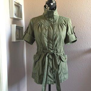 Decree Military Green Short Sleeve Cargo Jacket M